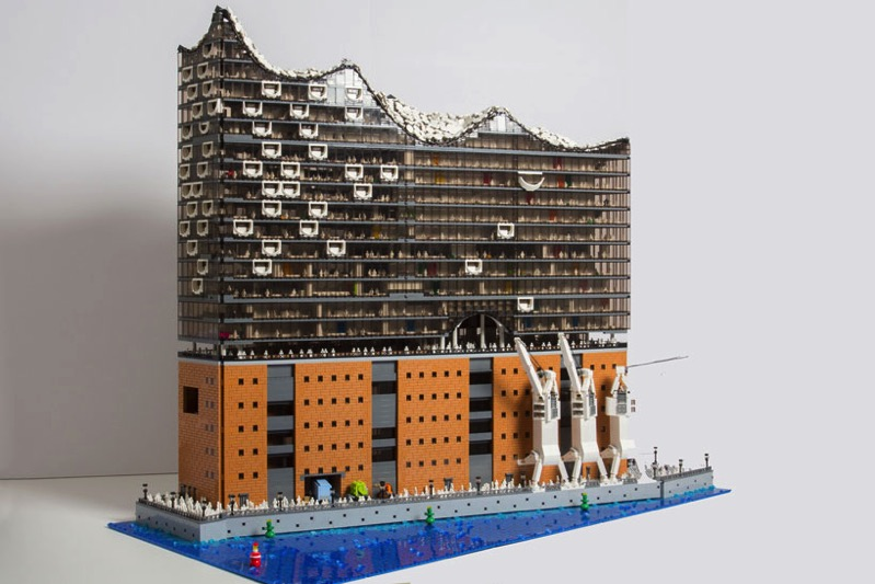 Brick monkey elbphilharmonie hamburg concert hall lego 1