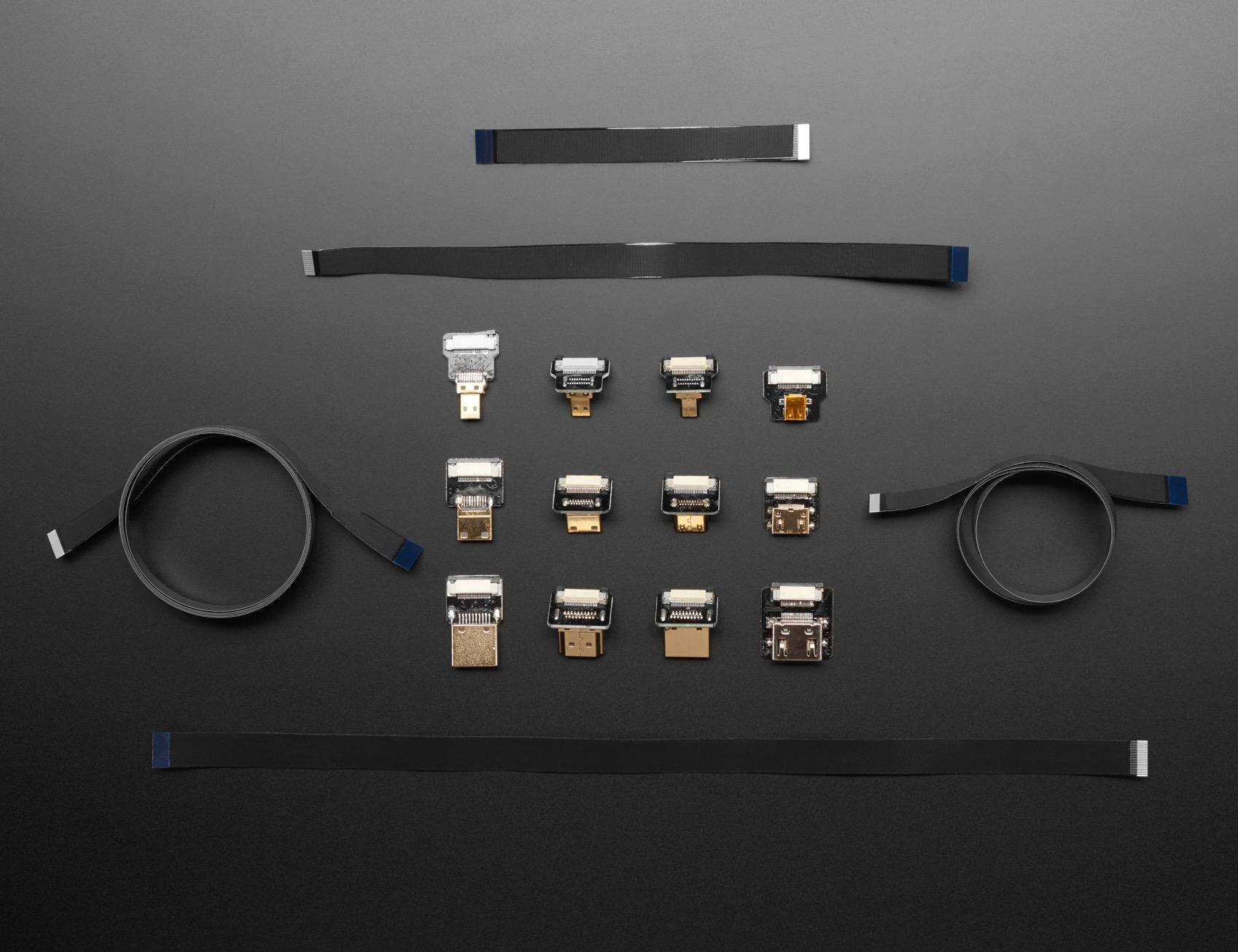 HDMI DIY Cables Connectors Group Photo ORIG