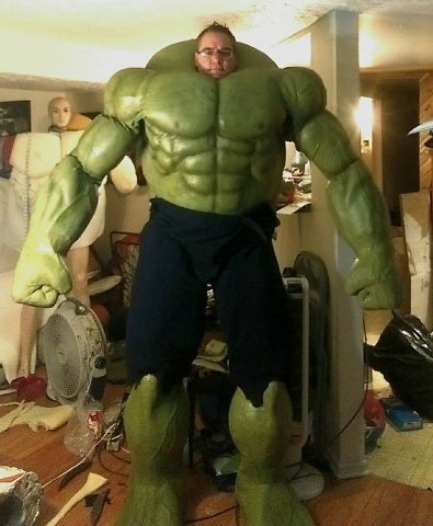 Latex bodybuidler suit