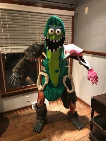 pickle rick as a costume adafruit industries makers hackers
