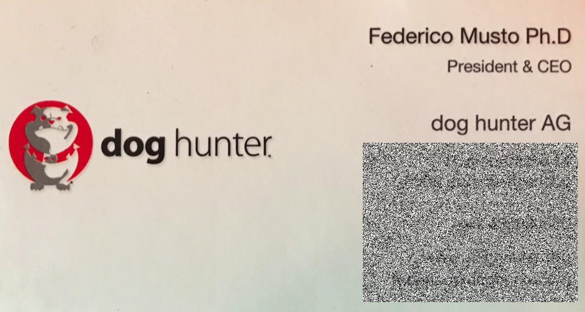 Doghuntercard Musto
