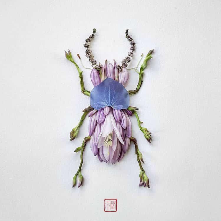Raku inoue insect art floral arrangements 1 1