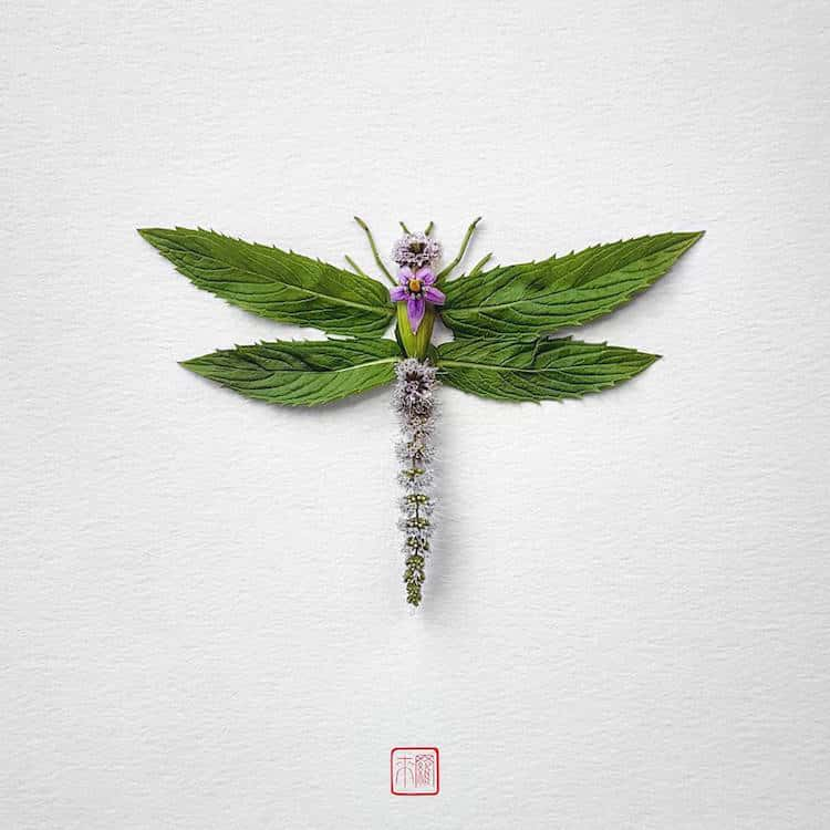 Raku inoue insect art floral arrangements 6