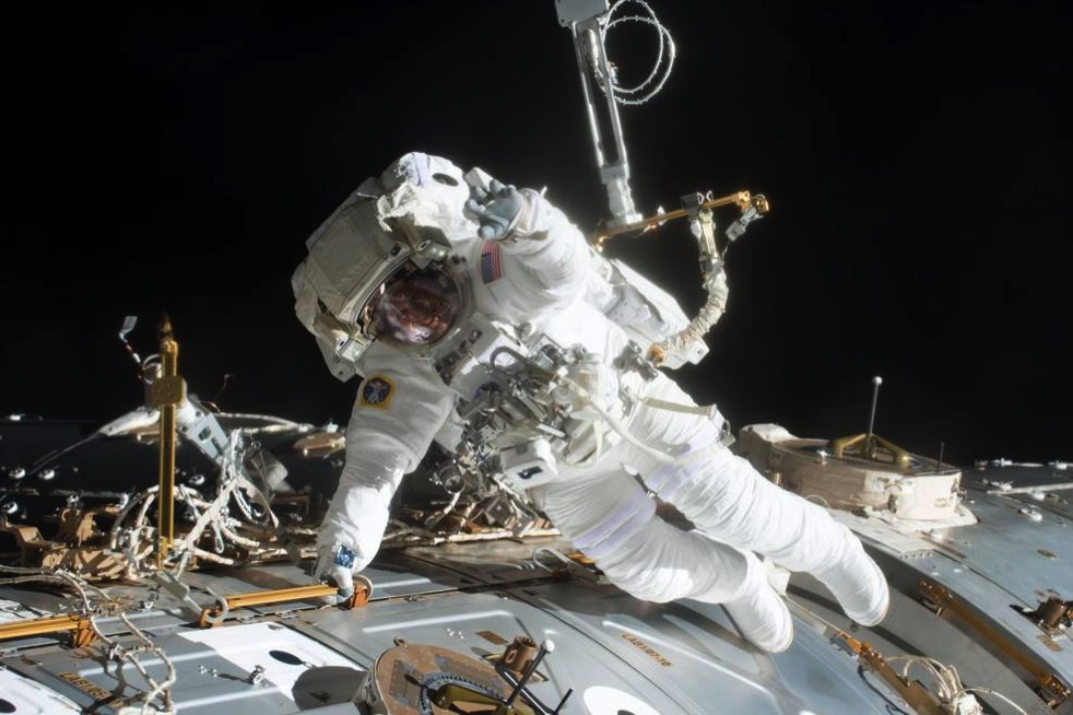 Fischer spacewalk