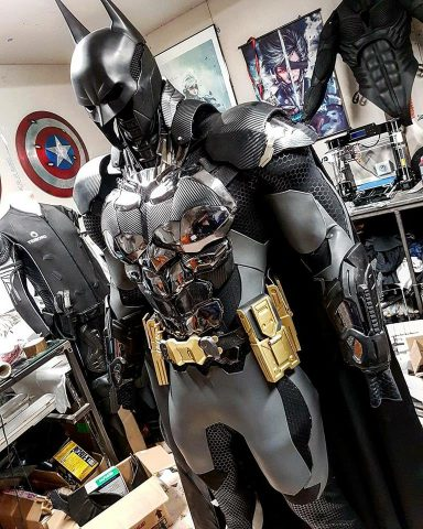 A 3d Printed Batman Arkham Knight Cosplay Adafruit Industries