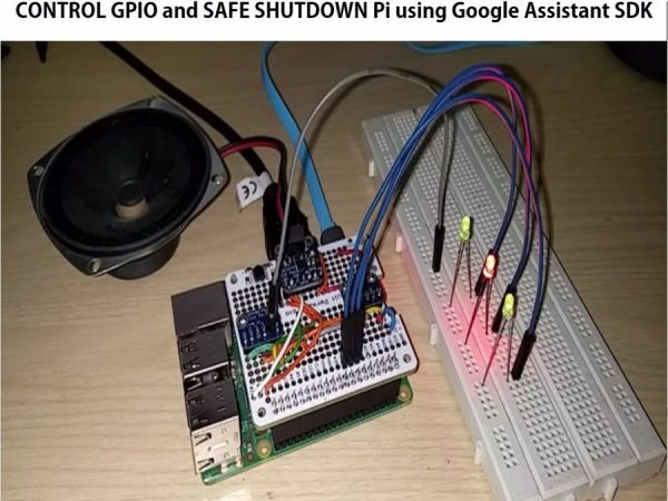GPIO Control and Safe Shutdown by Voice with Google Assistant SDK