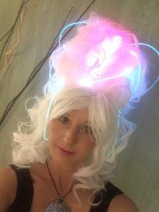glowing beehive wig