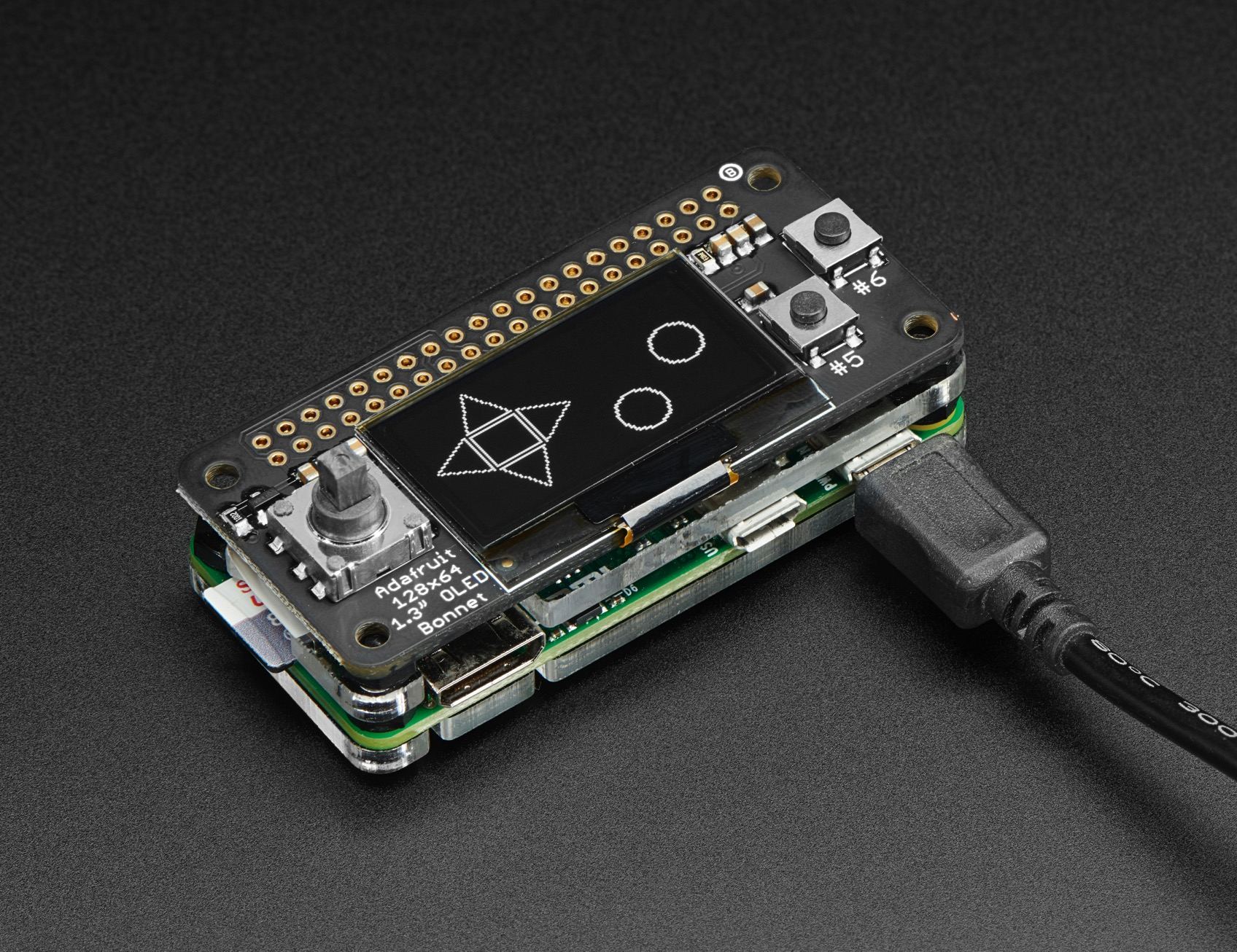 Oled Bonnet Pack For Raspberry Pi Zero Includes Pi Zero W Id 3192 34 95 Adafruit Industries Unique Fun Diy Electronics And Kits
