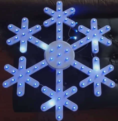 3D Printed Snowflake to use with pixel LEDs by hoangnam Pinshape