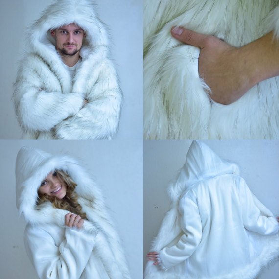 Matrix Fiber Optic Fur Coat Reversed