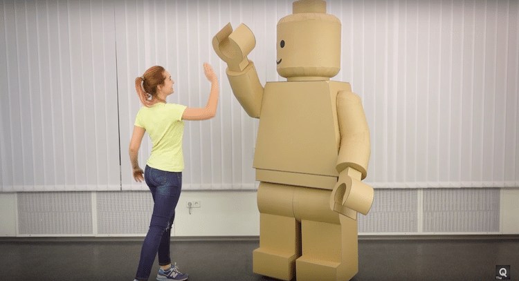 Turn Yourself into a LEGO Minifig with Cardboard