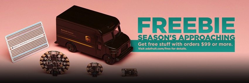Adafruit 5 freebies season blog