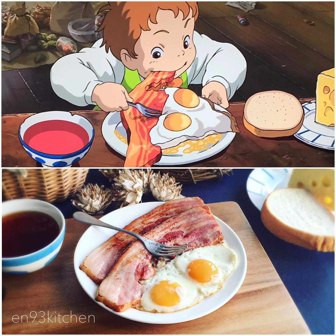 Real Life Recreations of Studio Ghibli Meals! #ArtTuesday ...