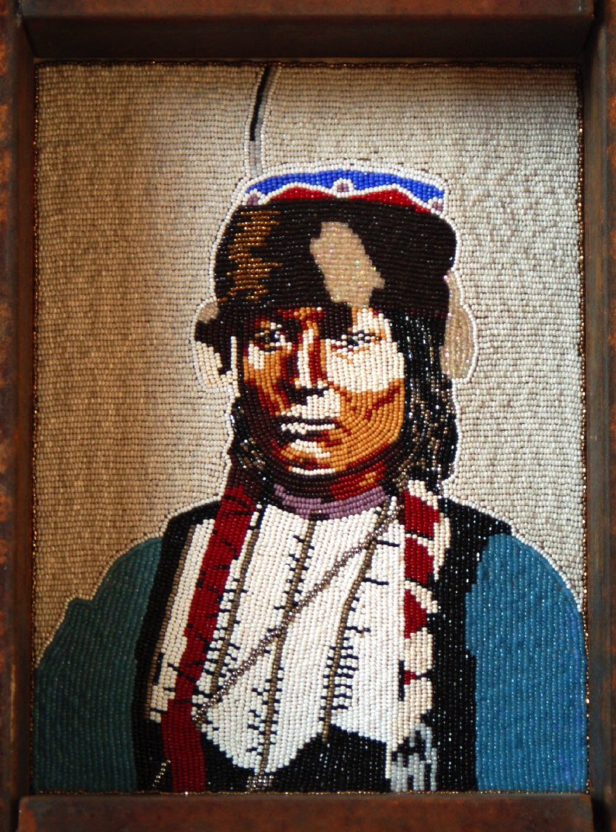 Other Art Kiowa Portrait in Beads by Marcus Amerman 419 40