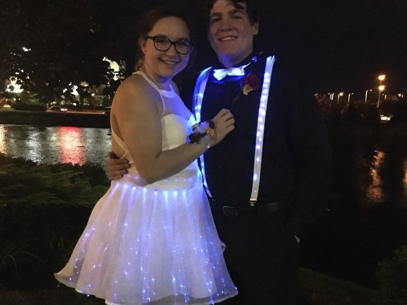 fiber optic homecoming dress wearablewednesday adafruit
