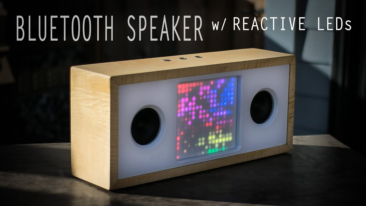 Diy bluetooth speaker with reactive led matrix « adafruit