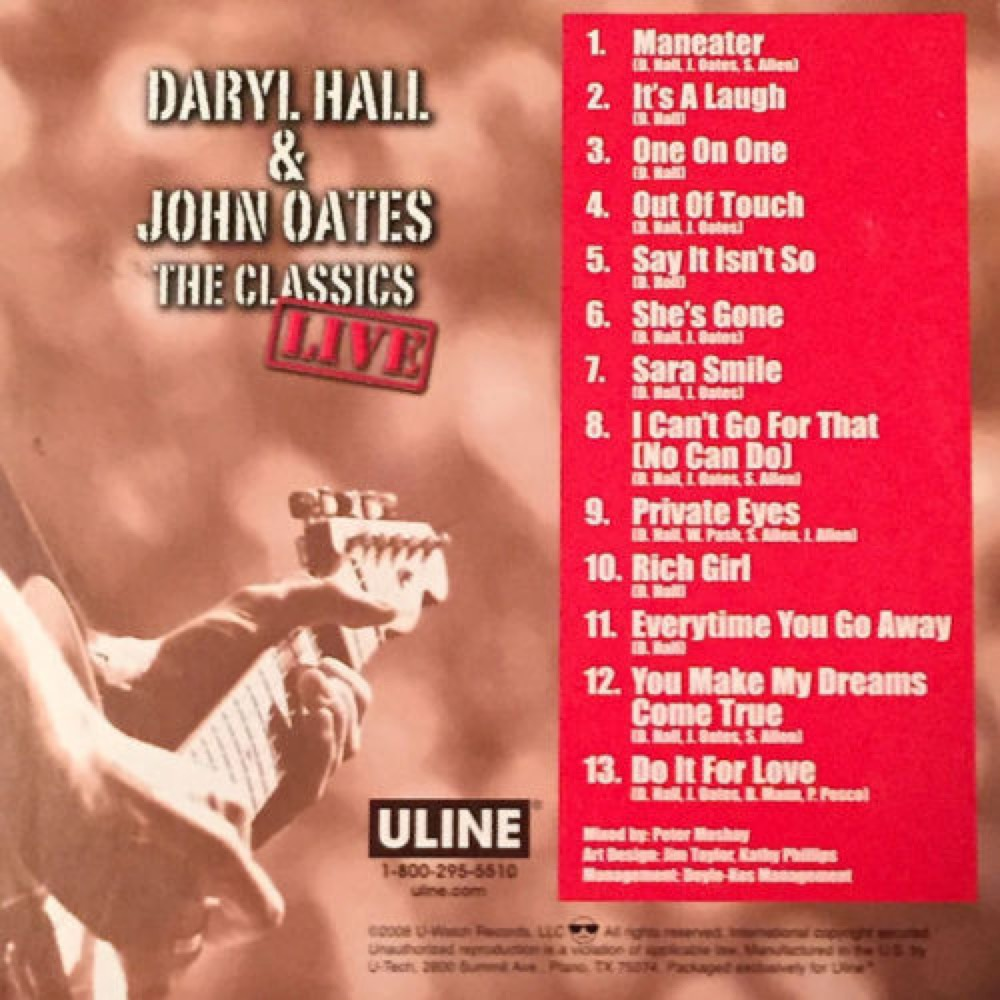 Uline Hall Oats Cd