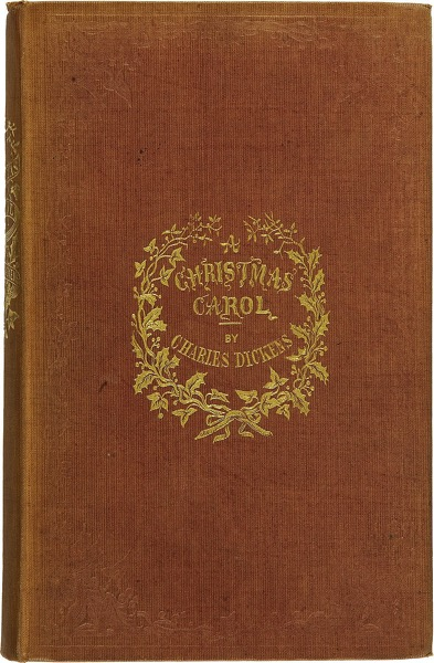 800px Charles Dickens A Christmas Carol Cloth First Edition 1843