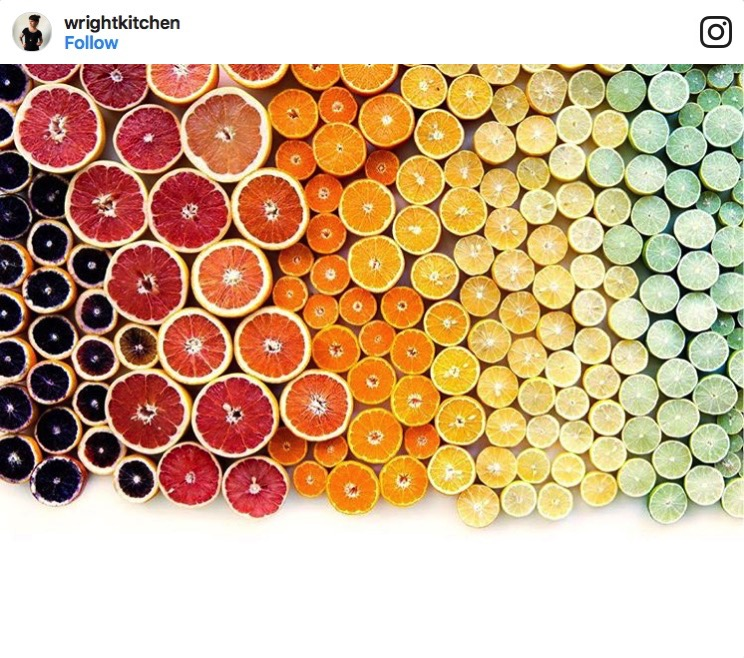 Gorgeous Displays of Fruits Vegetables and Other Foods Arranged in Visually Pleasing Color Order
