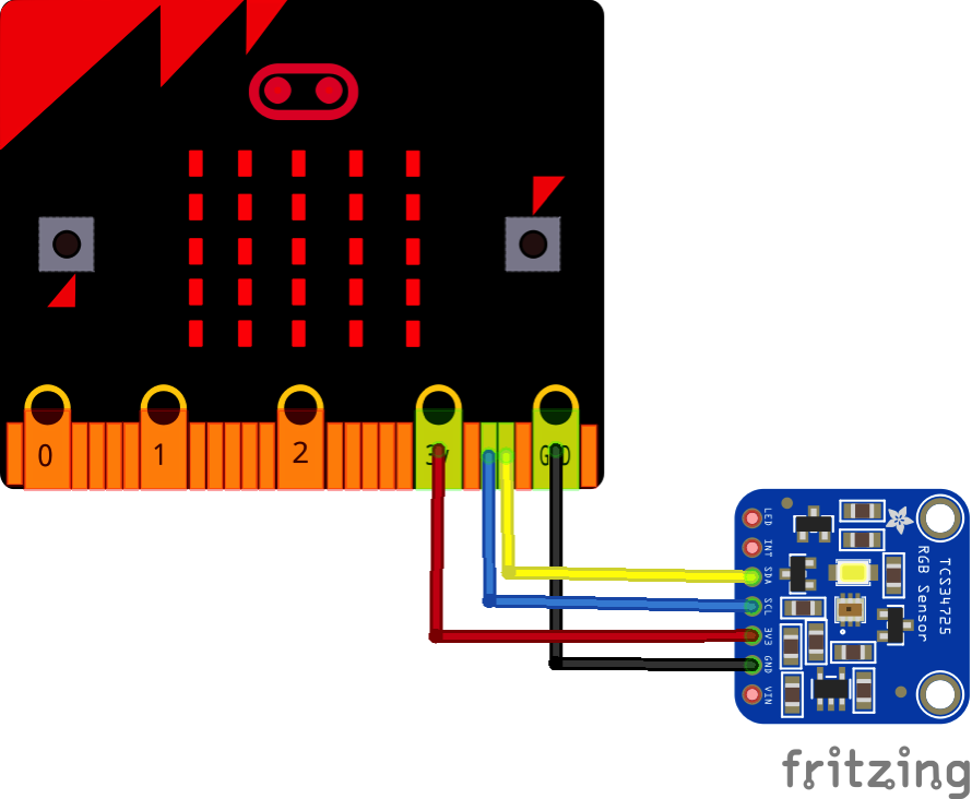 Microbit and TCS34725 bb