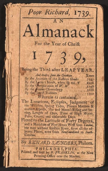Poor Richard Almanack 1739