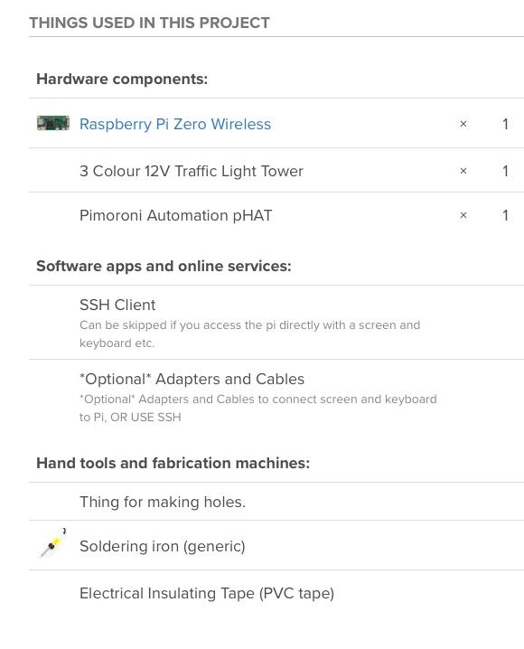Raspberry Pi Zero W Automation pHAT Traffic Light Tower Hackster io