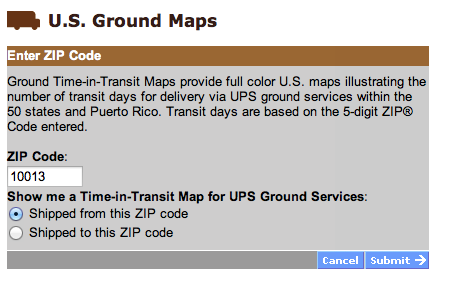 How long will it take my order to arrive if I ship it UPS Ground ...