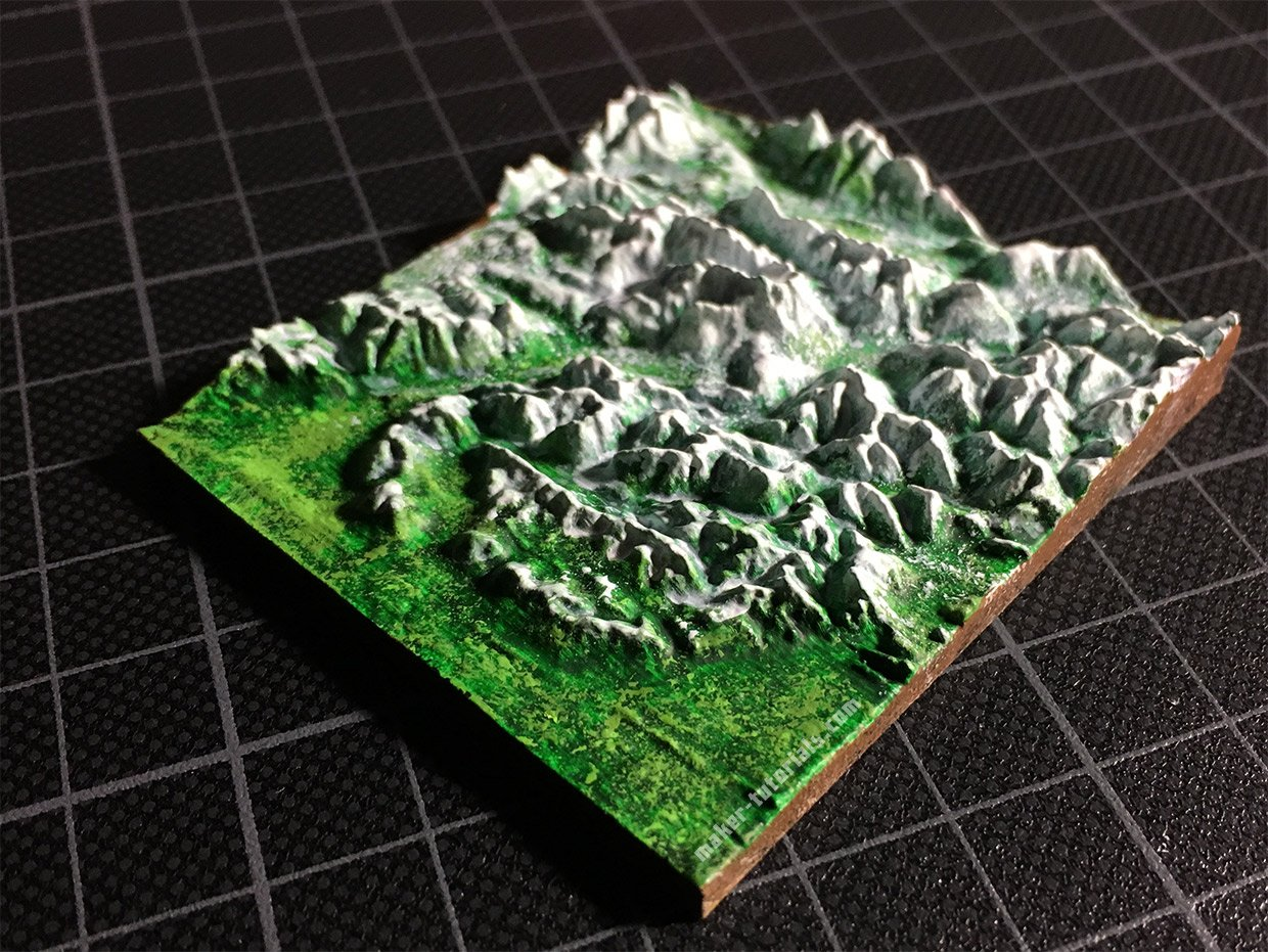 3d Printed Topographical Maps Made From Google Maps Terrain2stl