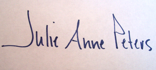 Julie Anne Peters signature