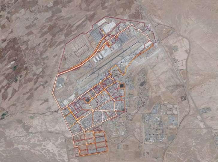 Kandahar Base as seen from a heat map