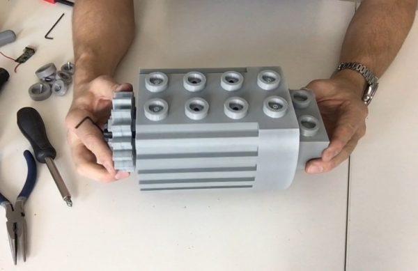 Modified 5 X Scale Lego Technic Motor 3dthursday 3dprinting