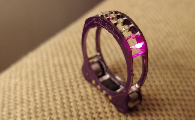 Cyborg ring made of electronics
