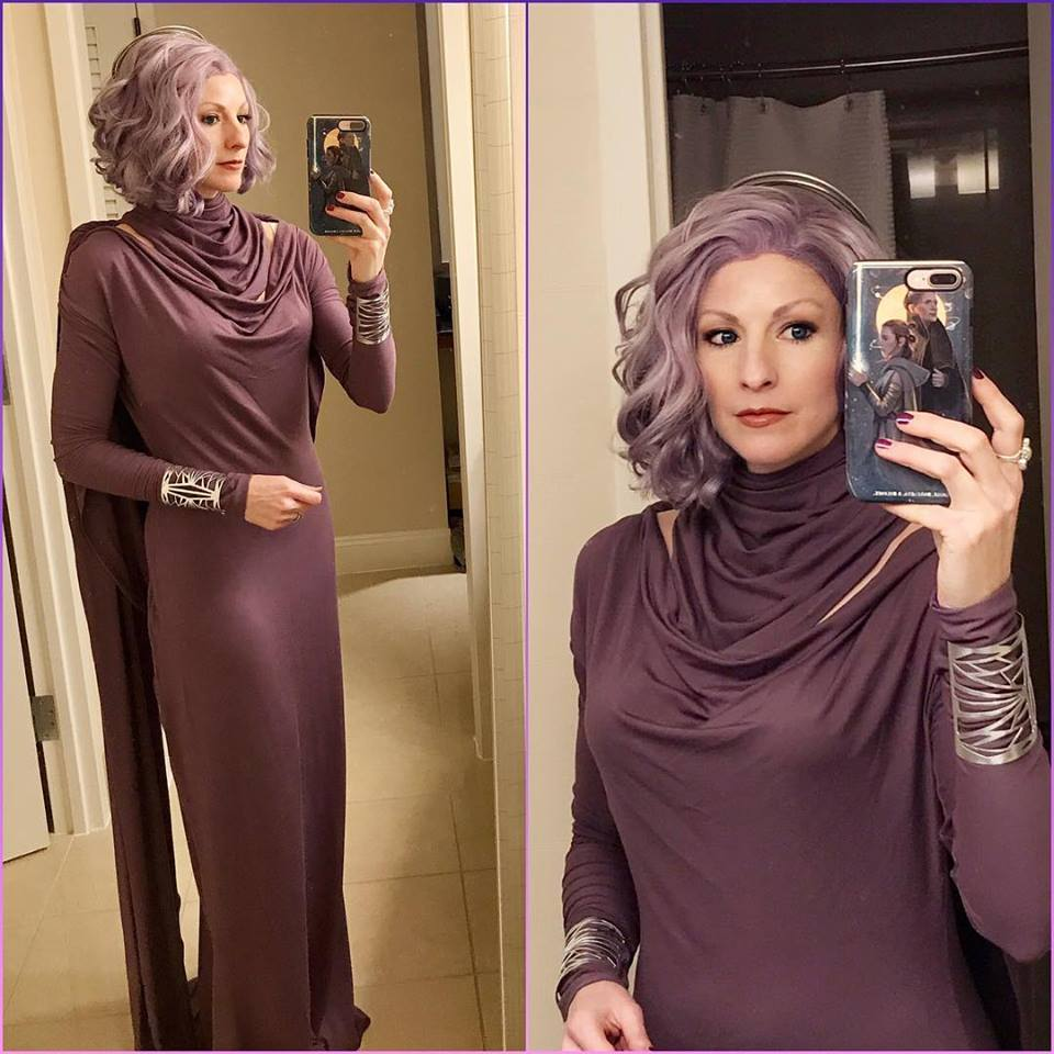 Going Purple With An Amilyn Holdo Costume 171 Adafruit