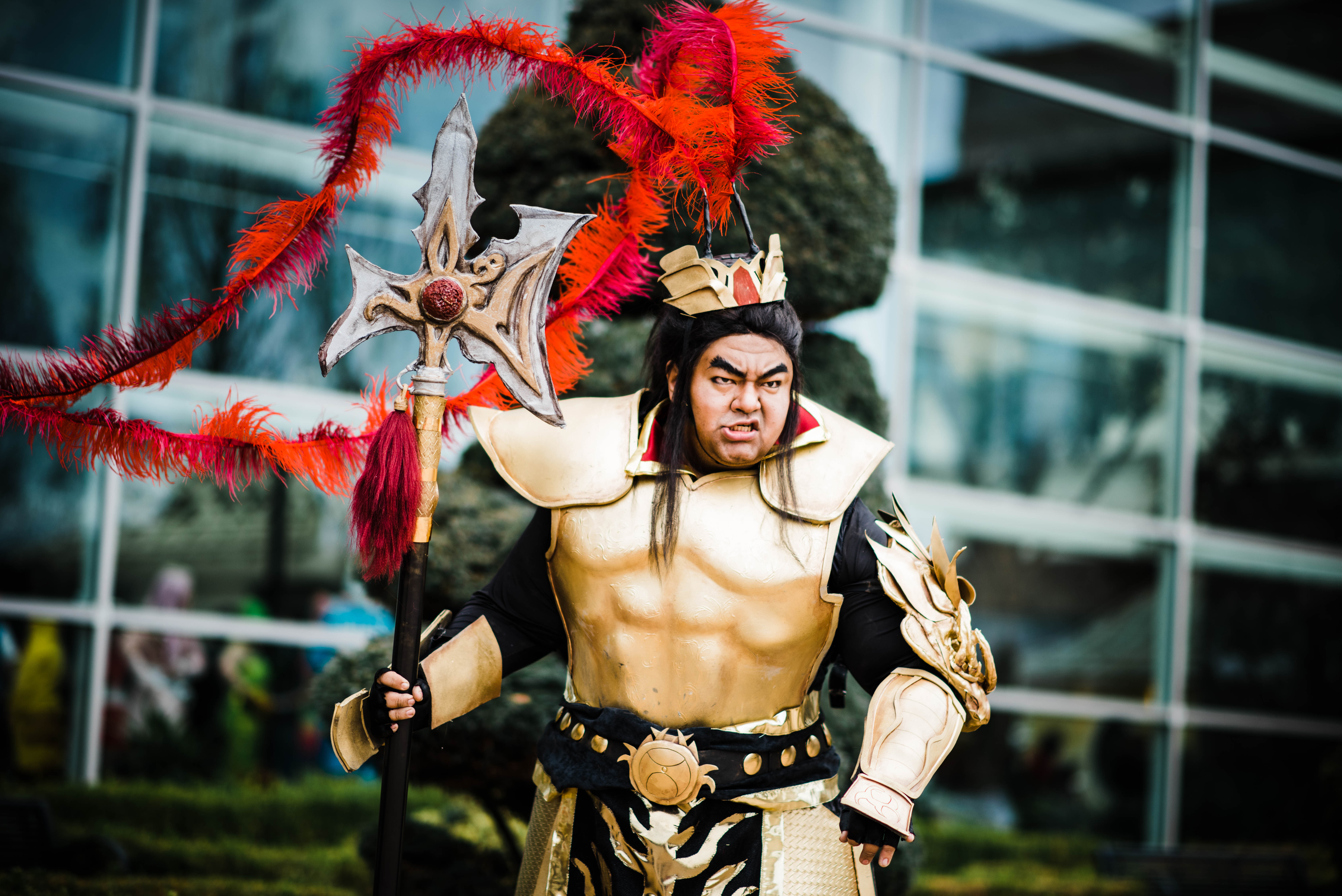 The First Cosplay Of Lu Bu S Gold Dynasty Warriors 9 Armor