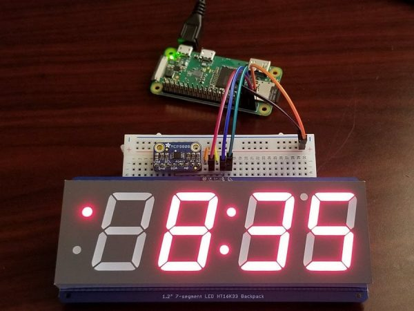 Digital Clock And Inside Outside Temperature Monitor With
