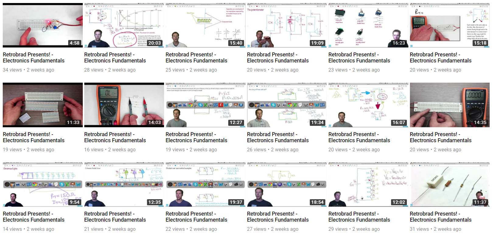 31 Videos By Retrobrad On Electronics Fundamentals With Quizzes Circuits For You Over The Last Few Weeks Youtube User 00retrobrad00 Has Uploaded To A Playlist Called Tutorial Can Check Out Full