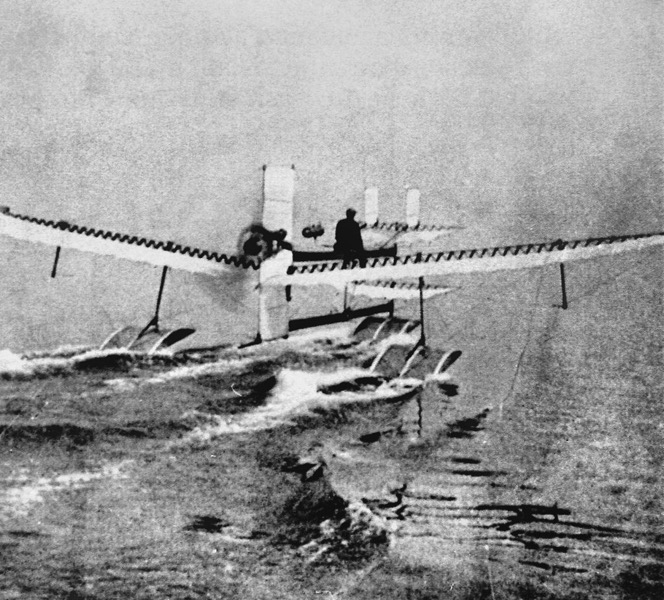 1024px Henri Fabre on Hydroplane 28 March 1910