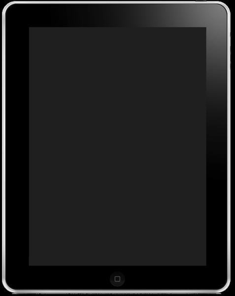 800px IPad 1 PSD Mockup