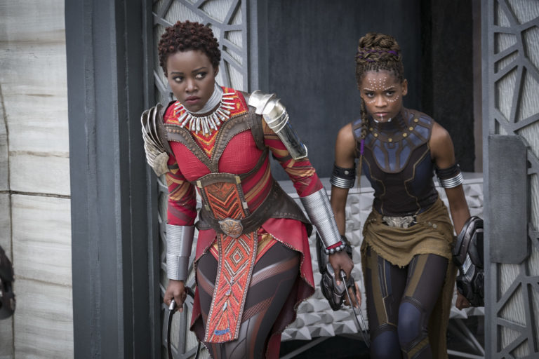 Black Panther costumes showing 3D printed material