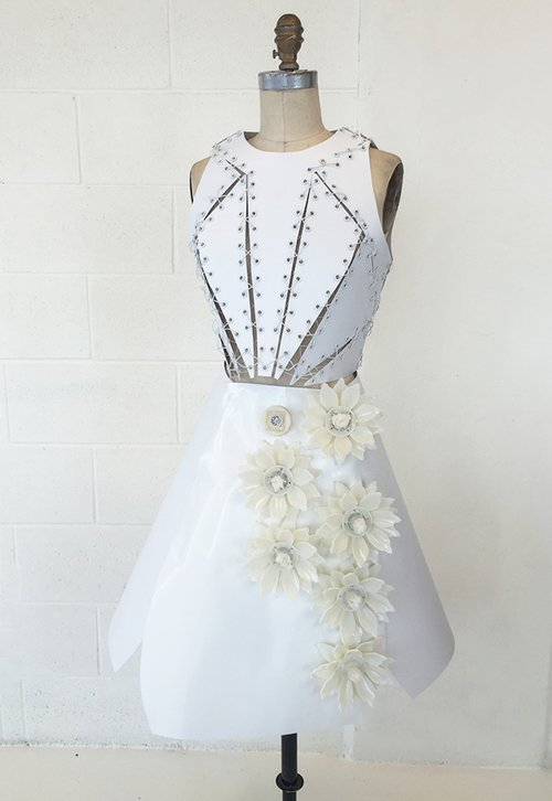 Fragrance Dress displaying flowers