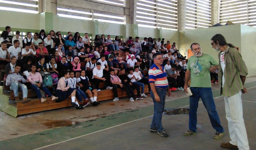 Students at Maricao High School learn about water testing