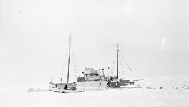 St Roch schooner wintering in the Beaufort Sea