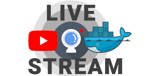 Live stream youtube docker logo