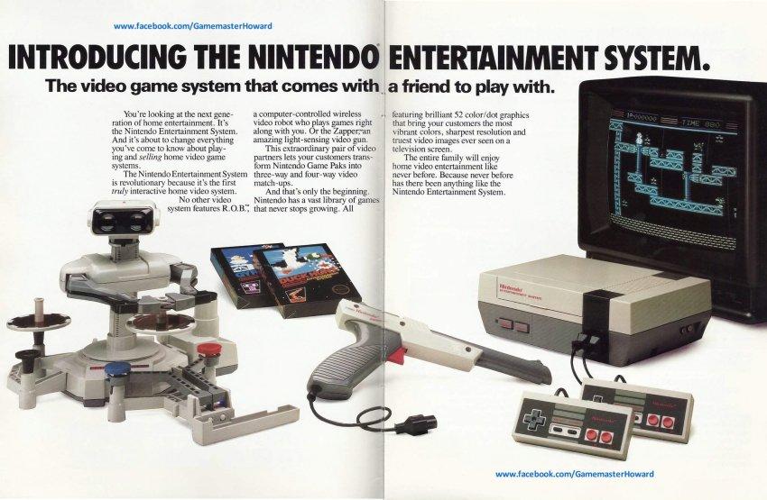 Nintendo R.O.B. ad 1985