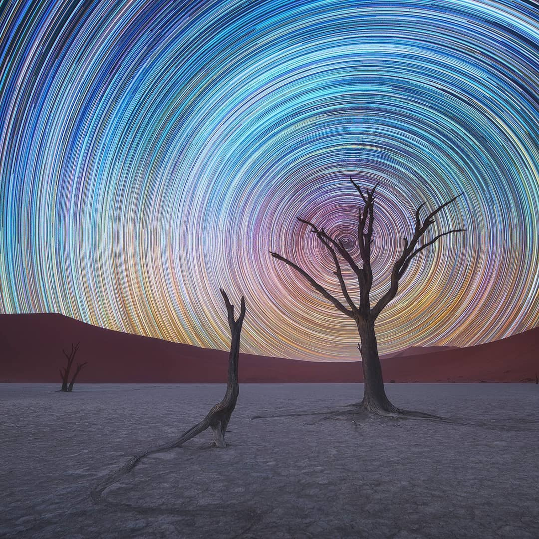 Swirling star trails daniel kordan 1