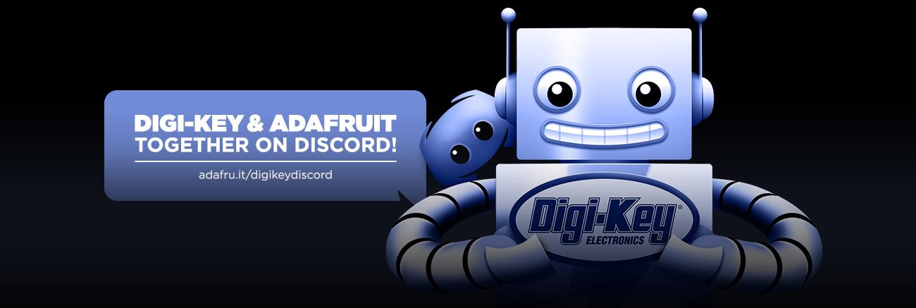Meet Digi-Key in the Adafruit Discord server all month
