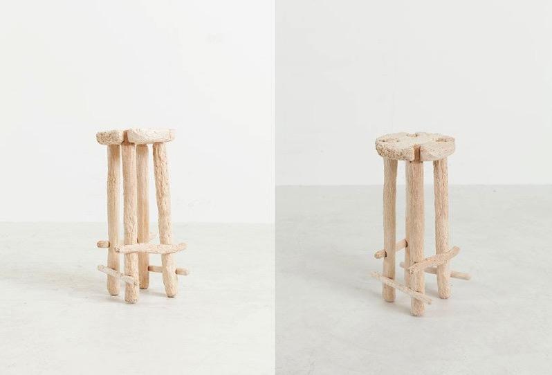 Nik bentel stool bare hands designboom 1