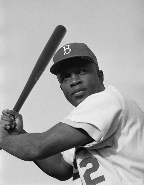 Jackie Robinson Brooklyn Dodgers 1954