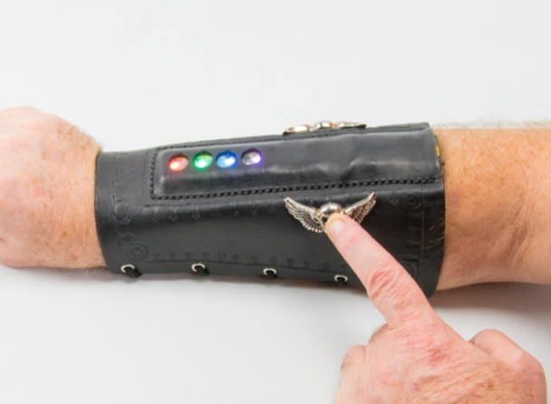 Light Up Leather Arm Braces Make