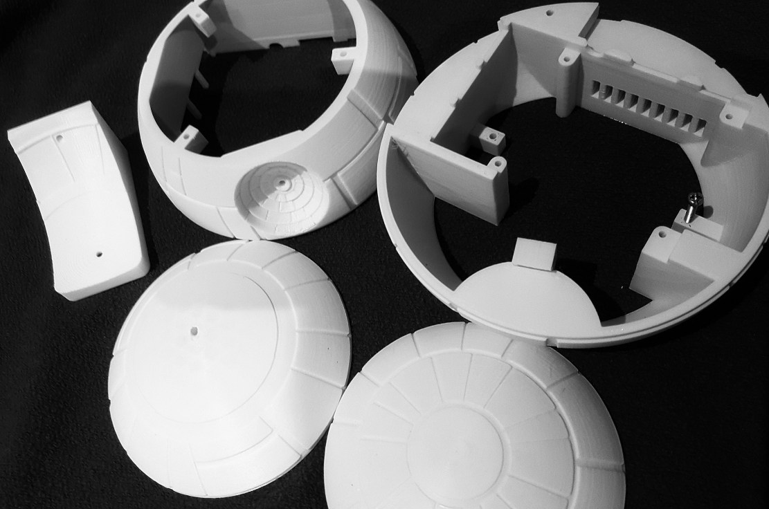 3d printed death star enclosure for your pi 3 starwars enclosure piday raspberrypi raspberry_pi